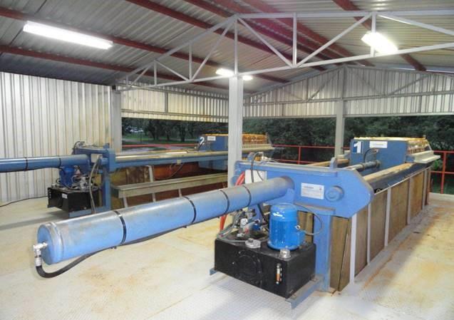 filtros prensa MURANO trabajando en industria del metal en HONDURAS